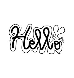 hello handwritten lettering vector image