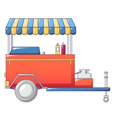 Hot dog shop icon cartoon style vector