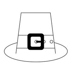 irish elf hat symbol black and white vector image