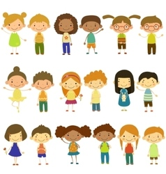 Kids of Different Nationalities and Lifestyles vector