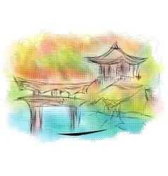 kyoto vector image