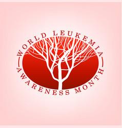 Leukemia day logo vector