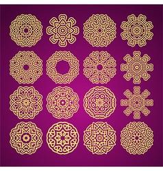 mandala motif vector image vector image