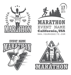 Marathon 2 vector image