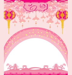 Mid-autumn festival for chinese new year - card vector