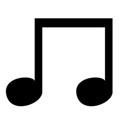 music note icon black color icon vector image