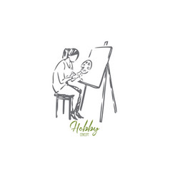 Painter concept sketch isolated vector