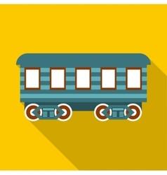 Passenger wagon icon flat style vector