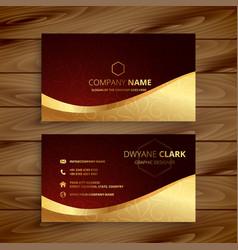 Premium golden business card design vector