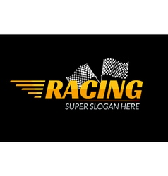 Racing Championship icon Race logo fast concept vector