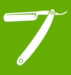 razor blade icon green vector image vector image