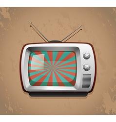 Retro television on grunge background vector image