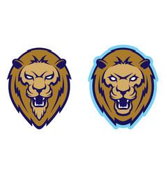 roaring lion head mascot vector image