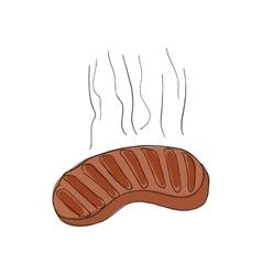 Sausage icon cartoon style vector