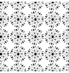 Seamless elegant lace black pattern vector image