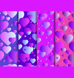 seamless pattern with hearts happy valentines day vector image