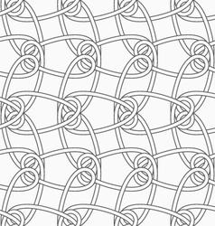 Slim gray vertical interlocking ornament vector image