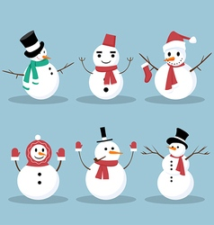 Snowman Collection vector image