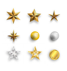 sparkles icon set eps10 vector image