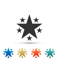 star icon isolated on white background vector image