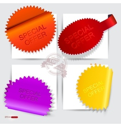 stickers and bookmarks Special Offer vector image