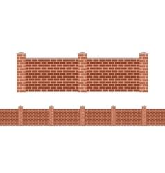 Stone bricks fence isolated on white background vector