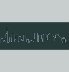 Tel aviv single line skyline vector