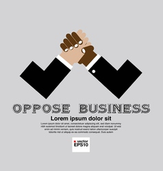 The Opposition of Business Conceptual vector