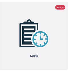 Two color tasks icon from time management concept vector