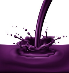 Violet paint splashing vector image vector image