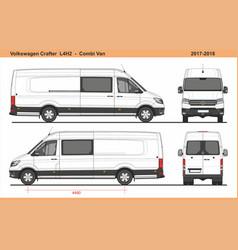 Volkswagen crafter combi van l4h2 2017-2018 vector