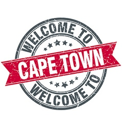 Welcome to Cape Town red round vintage stamp vector
