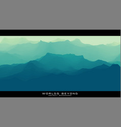 worlds beyond abstract landscapes vector image
