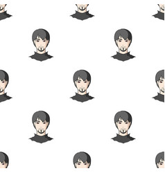 avatar of a man with red eyes avatar and face vector image