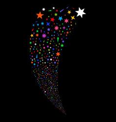 confetti stars random stream vector image vector image