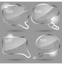glass speech and thought bubbles vector image