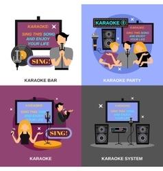 Karaoke Flat Set vector image vector image