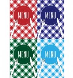 set of menu card covers vector image vector image