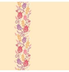 Tulip flowers horizontal seamless pattern vector image