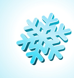3d snowflake vector image