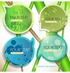 bubbles for speech natural green background vector image vector image