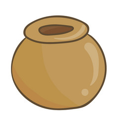 clay pot isolated vector image vector image