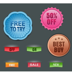 collection of labels vector image