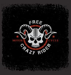 crazy rider vector image vector image