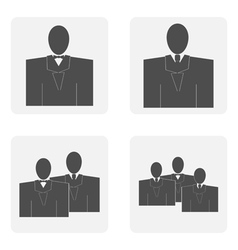monochrome icon set with Mister vector image