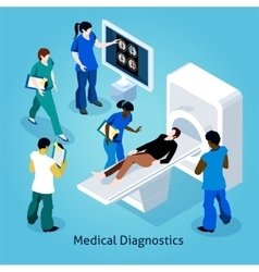 On Reception At Doctor Isometric Composition vector image vector image