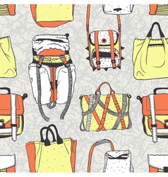 Seamless pattern with original bags vector image vector image