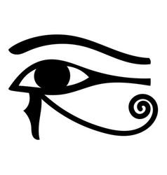 Eye of horus icon cartoon vector