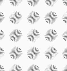 Gray ornament diagonal bulging small shapes vector image vector image