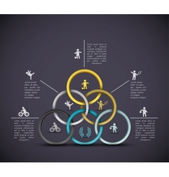 Infographic sport background vector image vector image